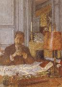 Edouard Vuillard Opal harp in his office painting